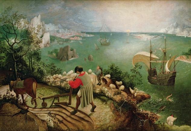 İkarus'un Düşüşü: Brueghel'den Mitolojik Bir Tablo