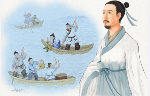 Aynı zamanda şair de olan Qu Yuan