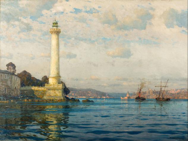 Michel Zeno Diemer Ahırkapı Feneri tablosu, Pera Müzesi