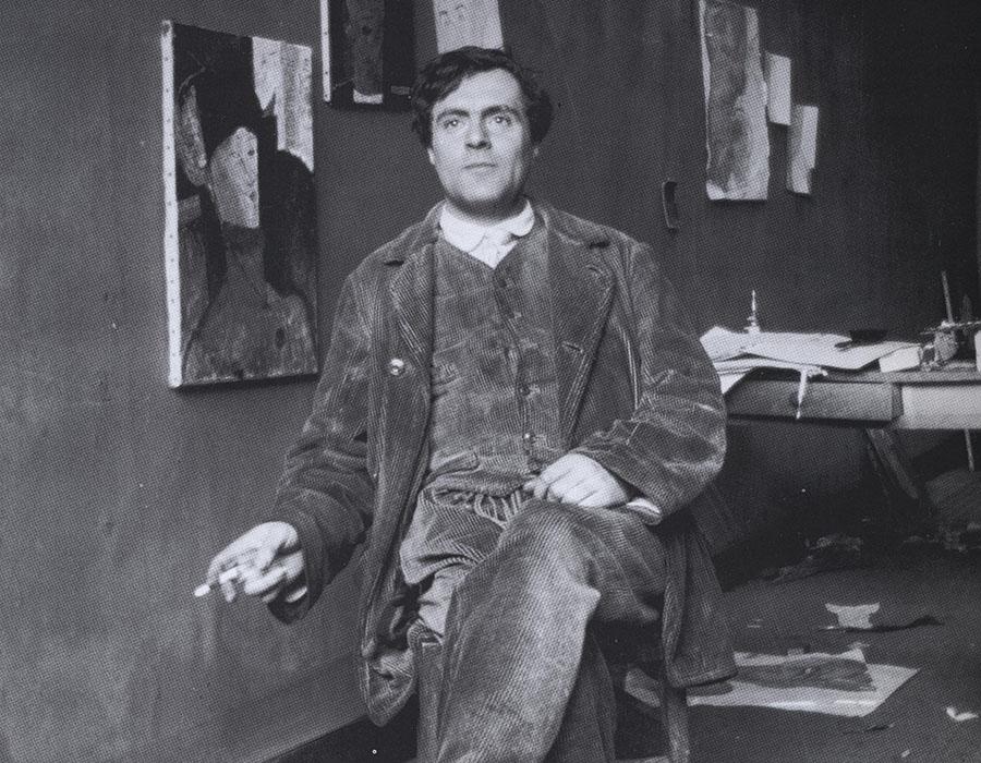Stüdyosunda Modigliani