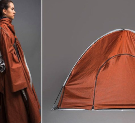Uyku Çadırına Dönüşebilen Ceketler Özellikle Mültecilere Yardımcı Olmak Amacıyla Tasarlandı