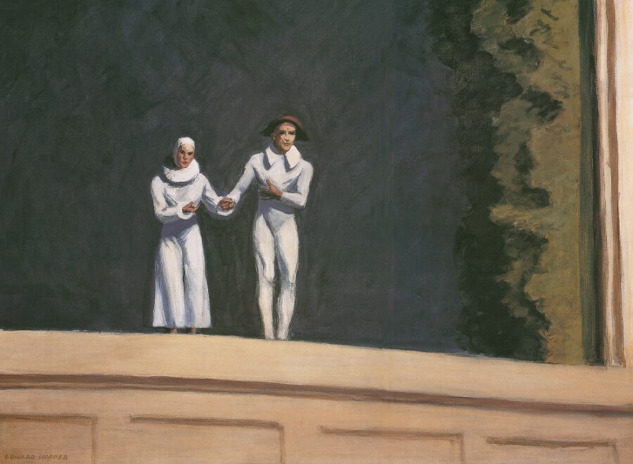 Two Comedians, Edward Hopper