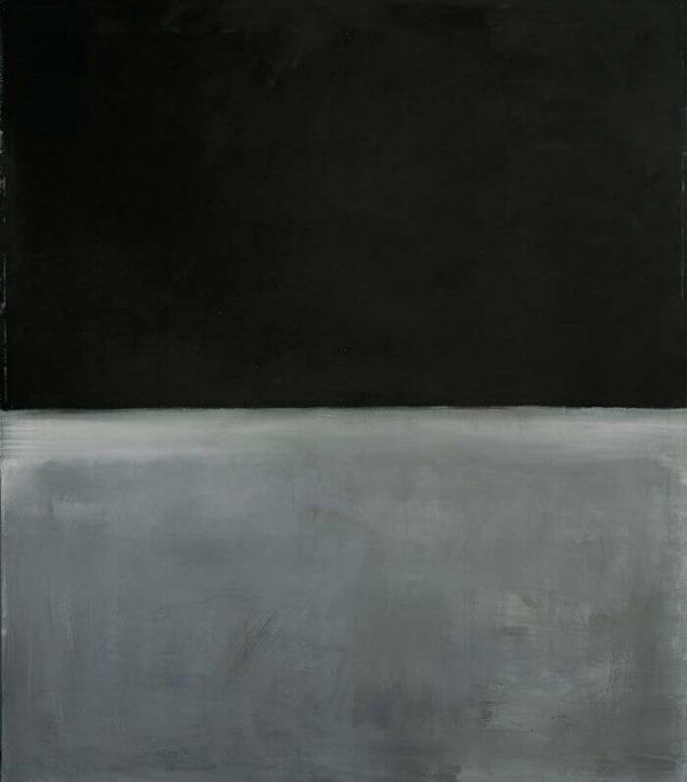 Rothko'nun son yıllarında yaptığı eseri (Black on Gray / 1969)