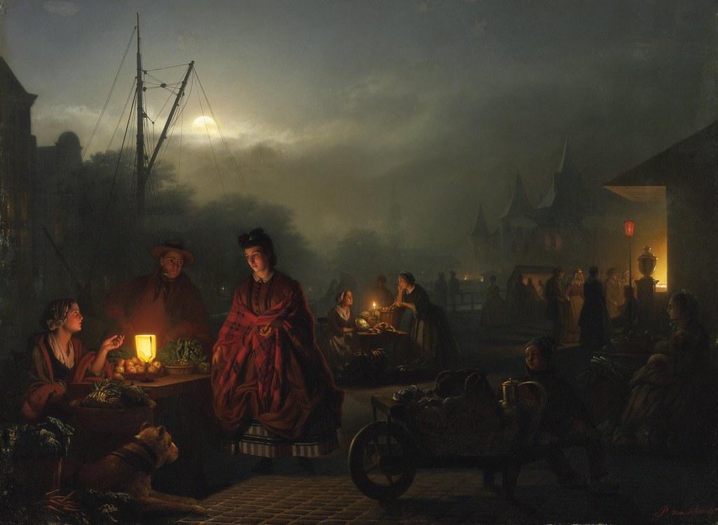 Petrus Van Schendel, The Night Marke