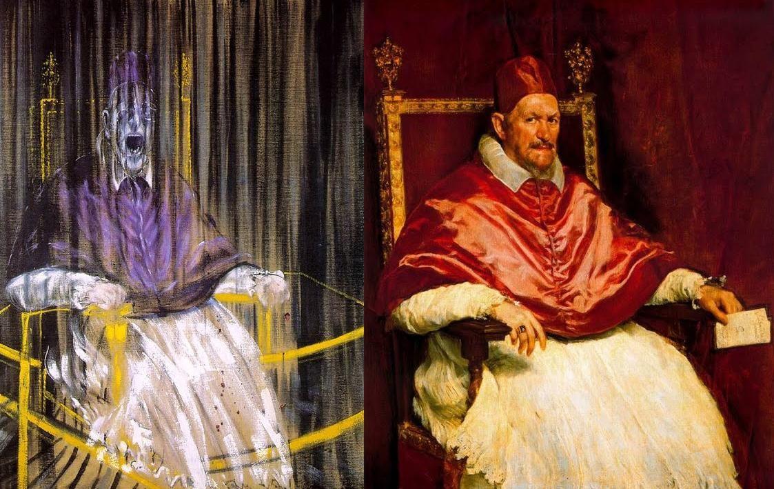 Bacon ve Velazquez'in Papa Yorumu
