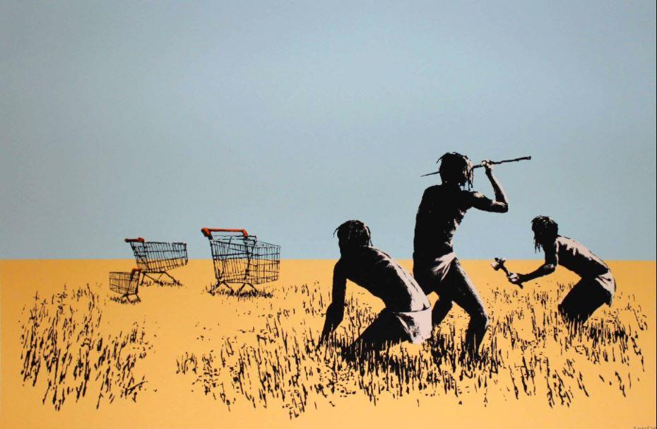 Banksy Eserleri: Trolley Hunters