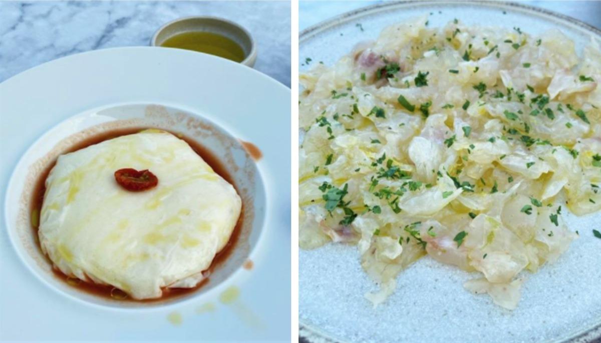 Peynir Bulutu ve Levrek Carpaccio
