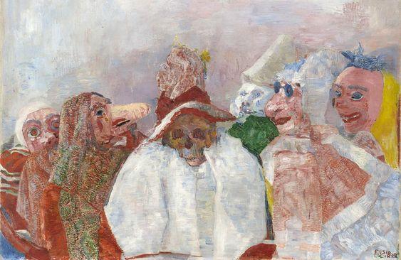 James Ensor, Ölümle Yüzleşen Maskeler
