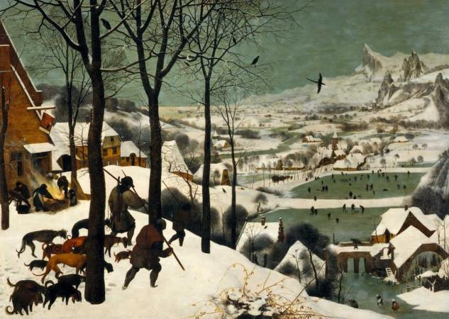 Pieter Bruegel, Hunters in the snow