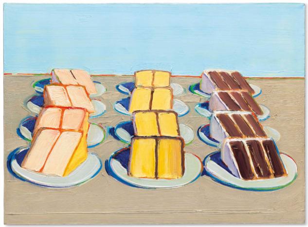 Wayne Thiebaud, Cake Rows