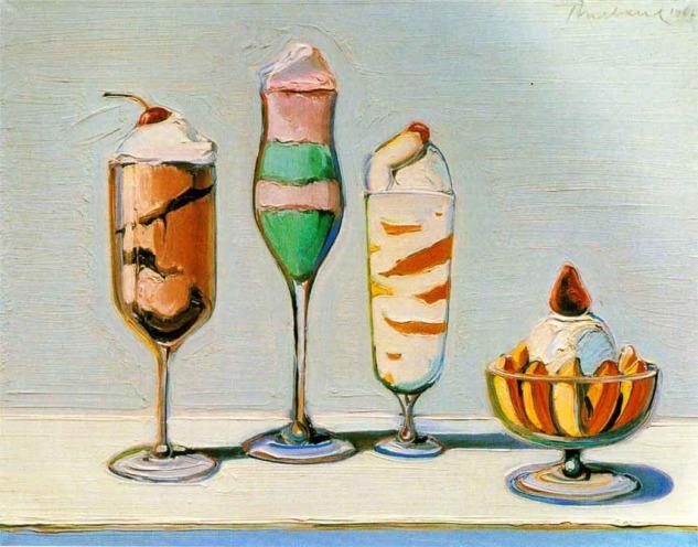 Wayne Thiebaud, Confections 1962