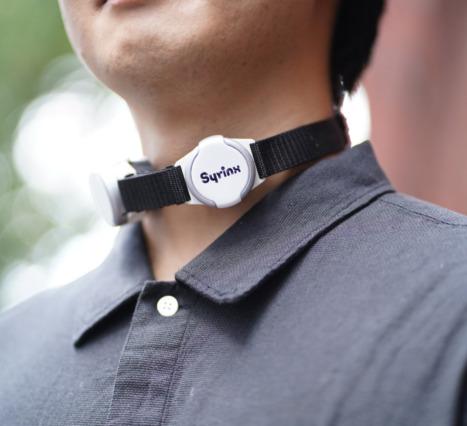 Syrinx: Kullanıcının Sesini Taklit Edebilen Bir Giyilebilir Ses Cihazı