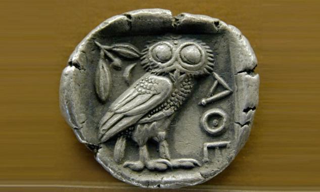Zeytin Dalı Kabartmalı Gümüş Tetradrahmi, Atina
