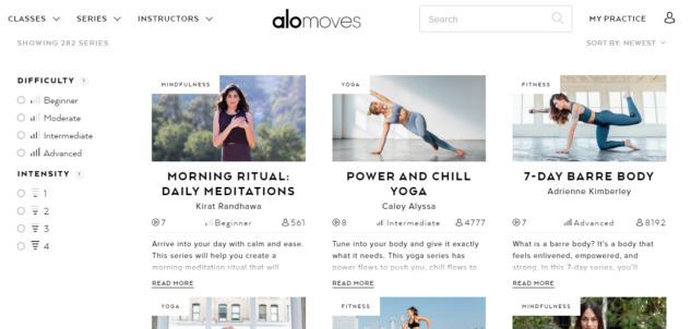 Online Yoga, Alomoves
