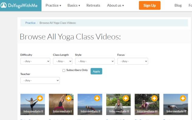 Online Yoga, Doyogawithme