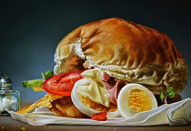 Tjalf Sparnaay: Resimde Hipergerçekçi Yemek İmgeleri