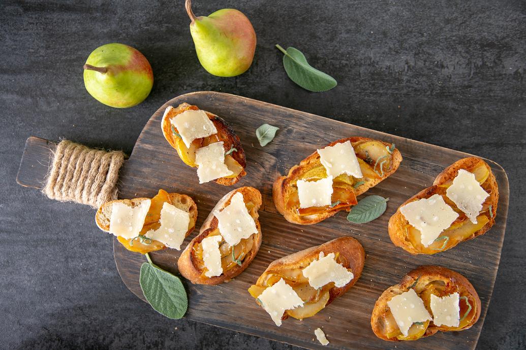 meyveli atıştırmalıklar - bruschetta