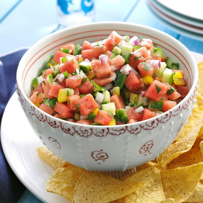 meyveli atıştırmalıklar - salsa